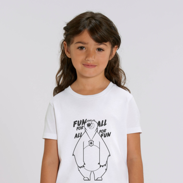 T-shirt grizzy enfant fun for all blanc fille