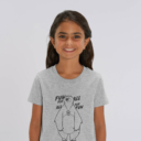 T-shirt grizzy enfant fun for all gris fille