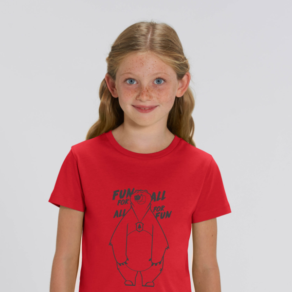 T-shirt grizzy enfant fun for all rouge fille