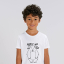 T-shirt grizzy enfant fun for all garçon blanc