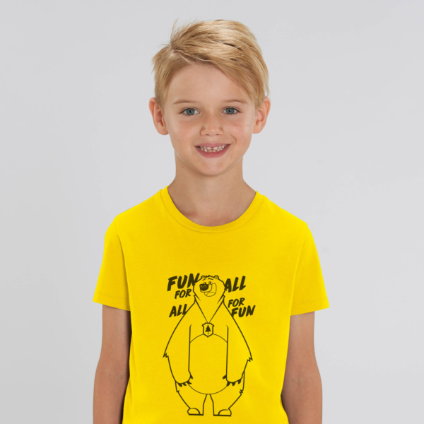 T-shirt  Kid fun for all yellow boy