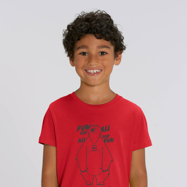 T-shirt grizzy enfant fun for all garçon rouge