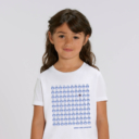 Tshirt enfant blanc 90 lemmings fille