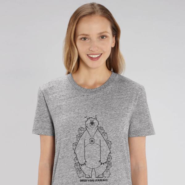 T-shirt grizzy adulte cache cache femme gris