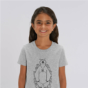 tshirt adult hide and seek girl grey