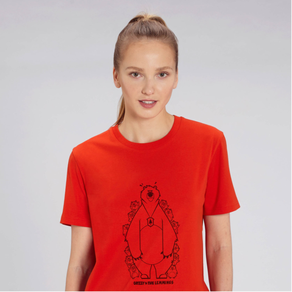 T-shirt grizzy adulte cache cache femme rouge