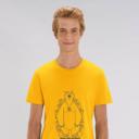 t-shirt jaune adulte cache cache filaire grizzy et les lemmings homme