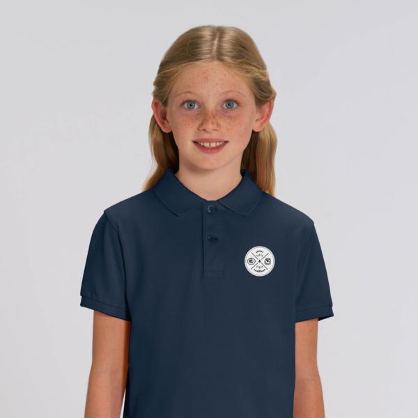 Kid Polo badge girl blue navy
