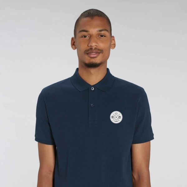Adult Polo badge blue navy