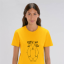 T-shirt grizzy adulte fun for all femme jaune