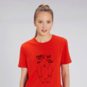 T-shirt grizzy adulte fun for all femme rouge