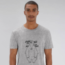 T-shirt grizzy adulte fun for all homme gris