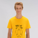 T-shirt grizzy adulte fun for all homme jaune