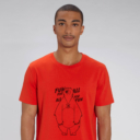 T-shirt grizzy adulte fun for all homme rouge