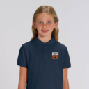 polo bleu navy enfant patch grizzy yummy grizzy et les lemmings fille