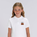 polo blanc enfant patch grizzy yummy grizzy et les lemmings fille