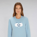 LEMMINGFACE FBLEUCadult sweatshirt lemming woman