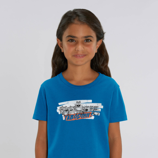 "T-shirt enfant bleu Lemming ""TABODIIIII"" fille"