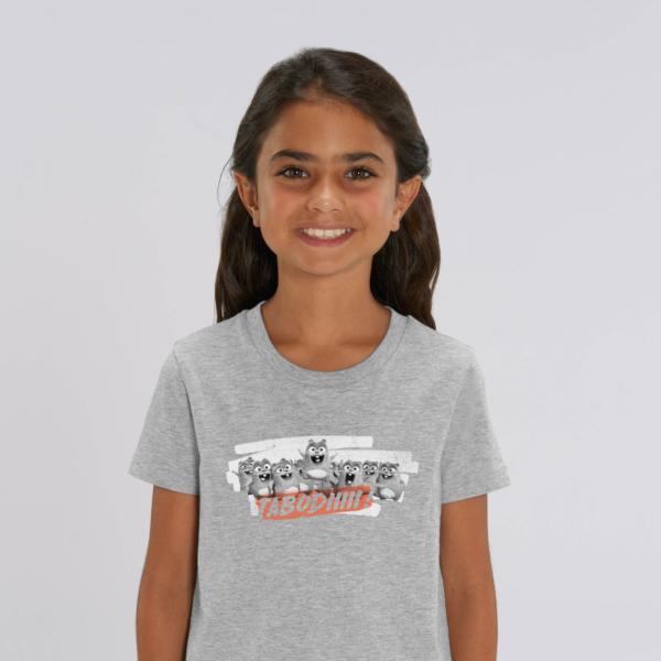 "T-shirt enfant gris Lemming ""TABODIIIII"" fille"