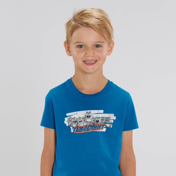 "T-shirt enfant bleu Lemming ""TABODIIIII"" garçon"