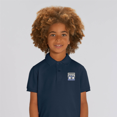 polo bleu navy enfant patch lemmings grizzy et les lemmings garçon