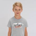 "T-shirt enfant gris Lemming ""TABODIIIII"" garçon"