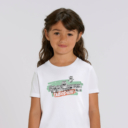 "T-shirt enfant blanc Lemming ""TABODIIIII"" fille"