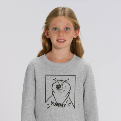 Sweat gris enfant yummy filaire grizzy et les lemmings fille