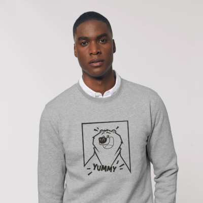 Sweat gris adulte yummy filaire grizzy et les lemmings homme